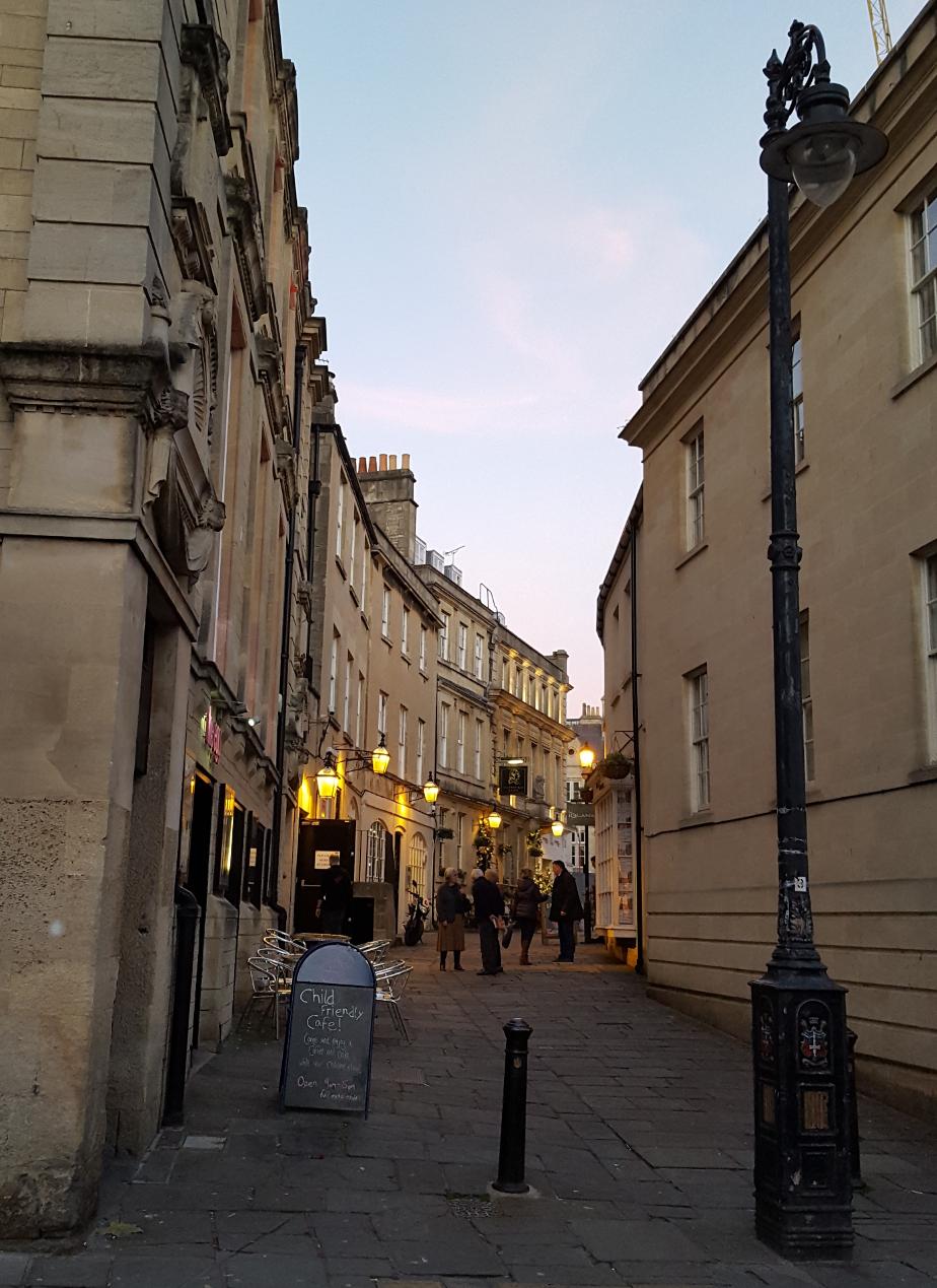 Bath's Georgian streets at sunset