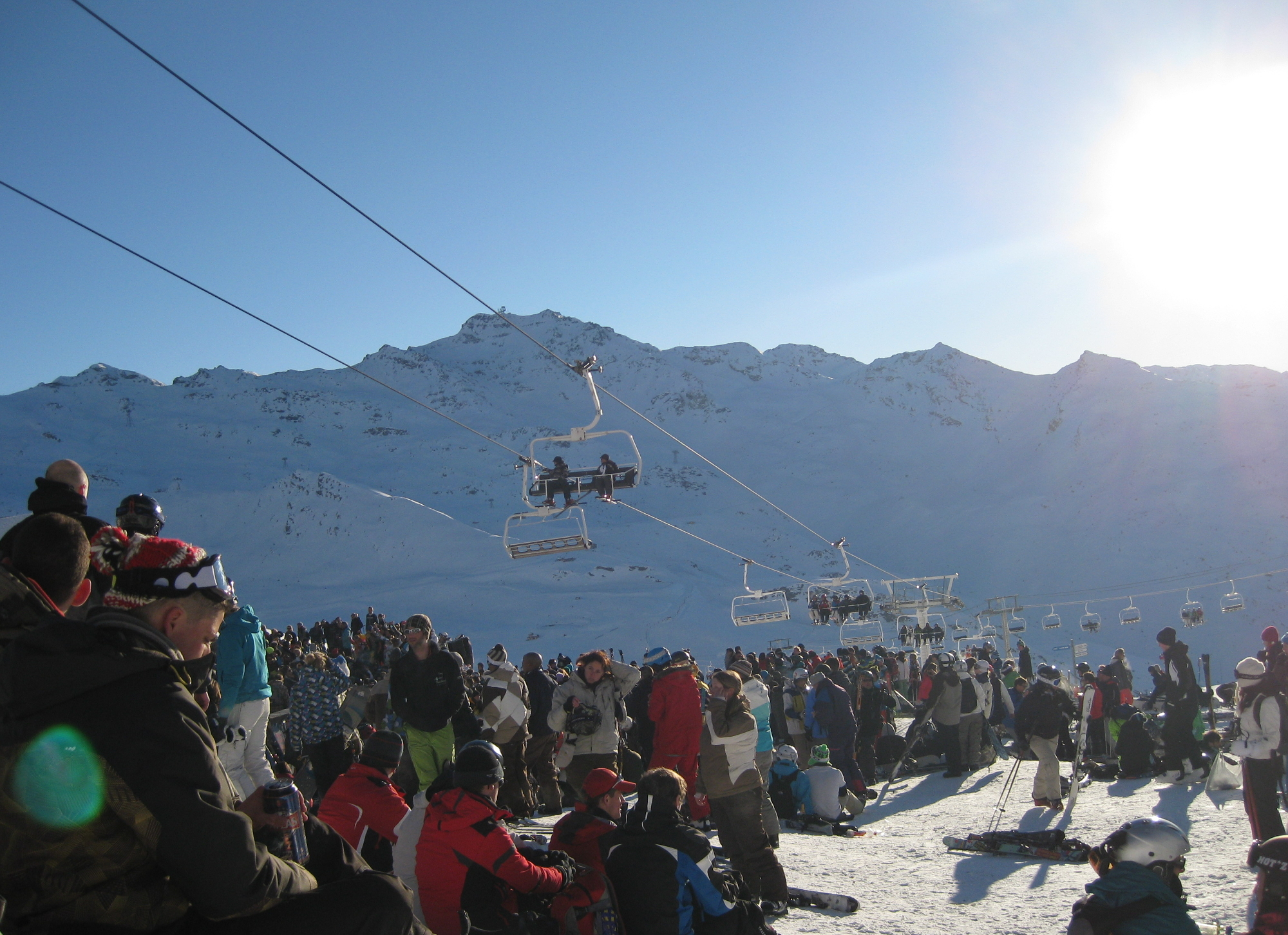 Apres ski at the Folie Douce in Val Thorens France