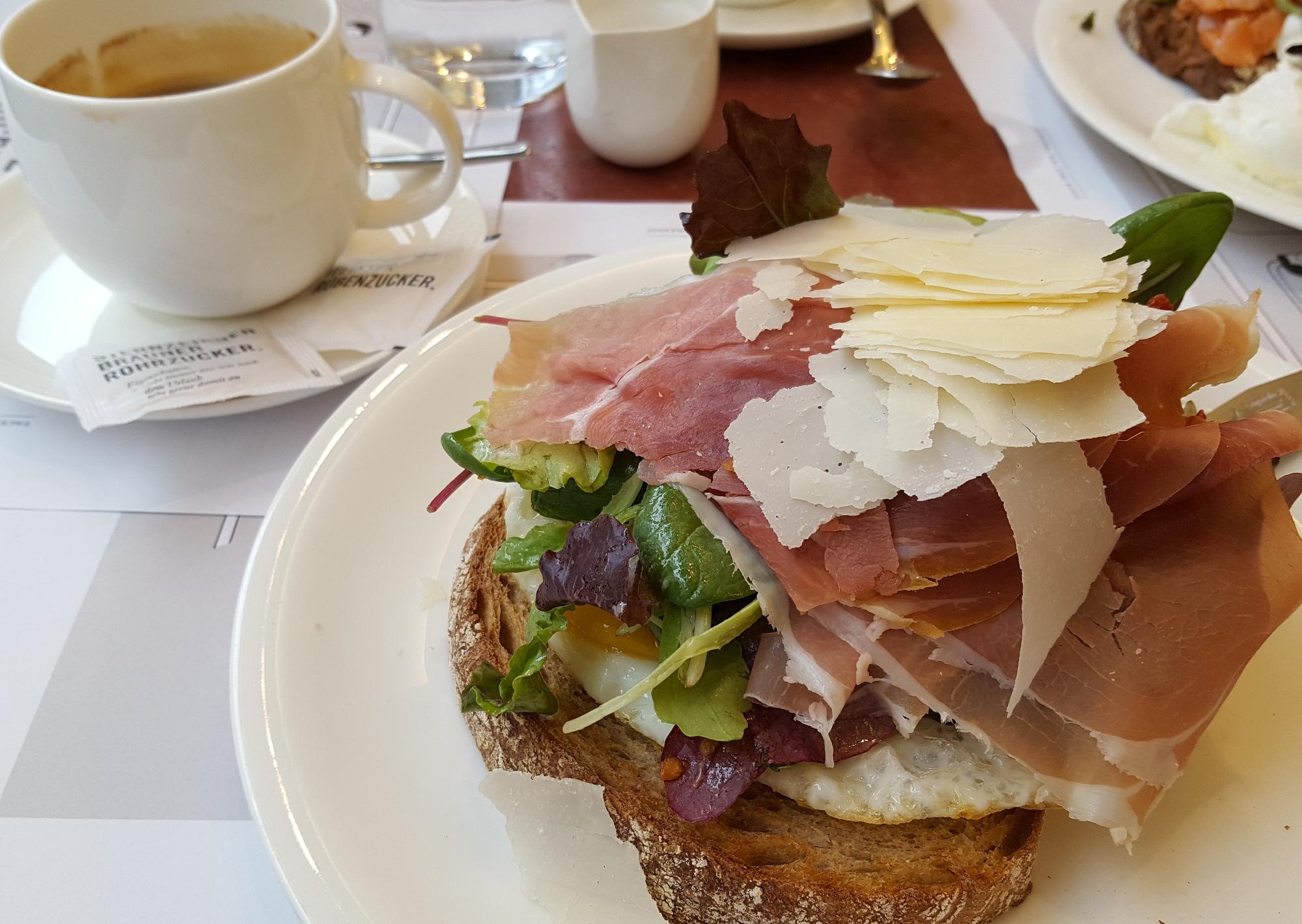 Italian breakfast at Josef's backerei, Vienna