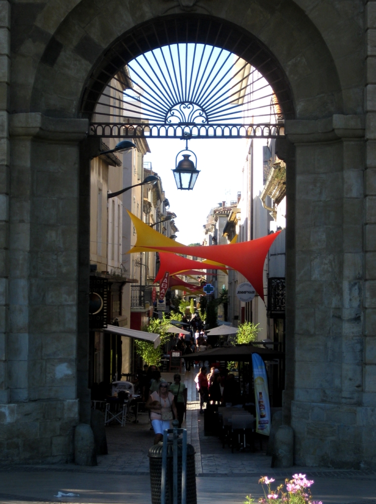 City gate in Carcasonne, France