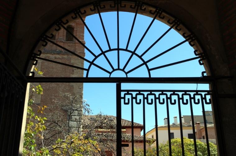 Wrought iron gateway in Toledo, Spain