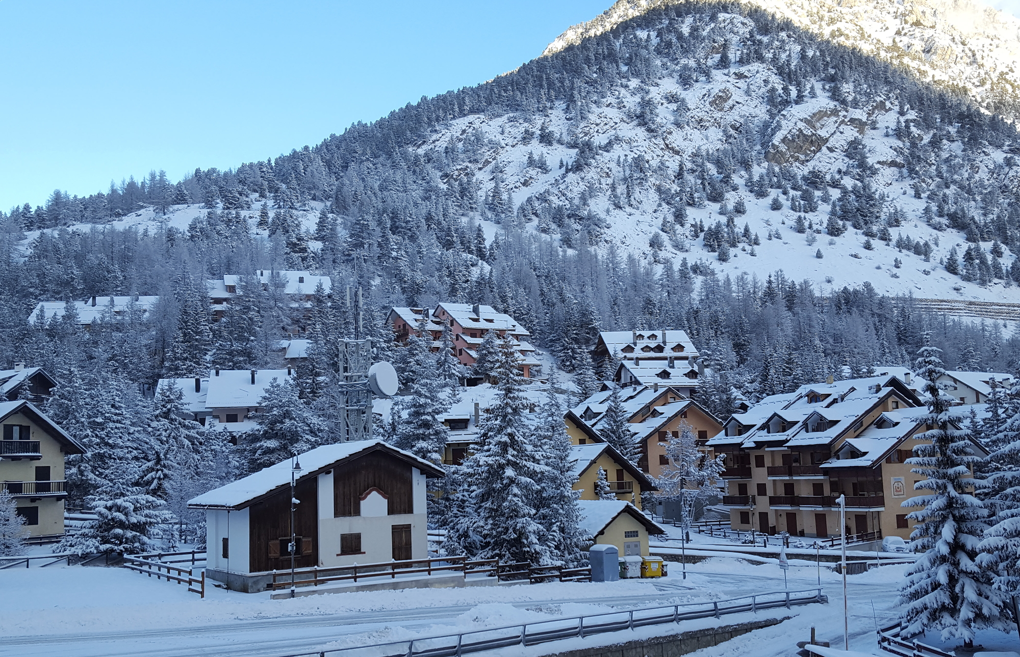 The small ski resort of Claviere in Piedmonte, Italy