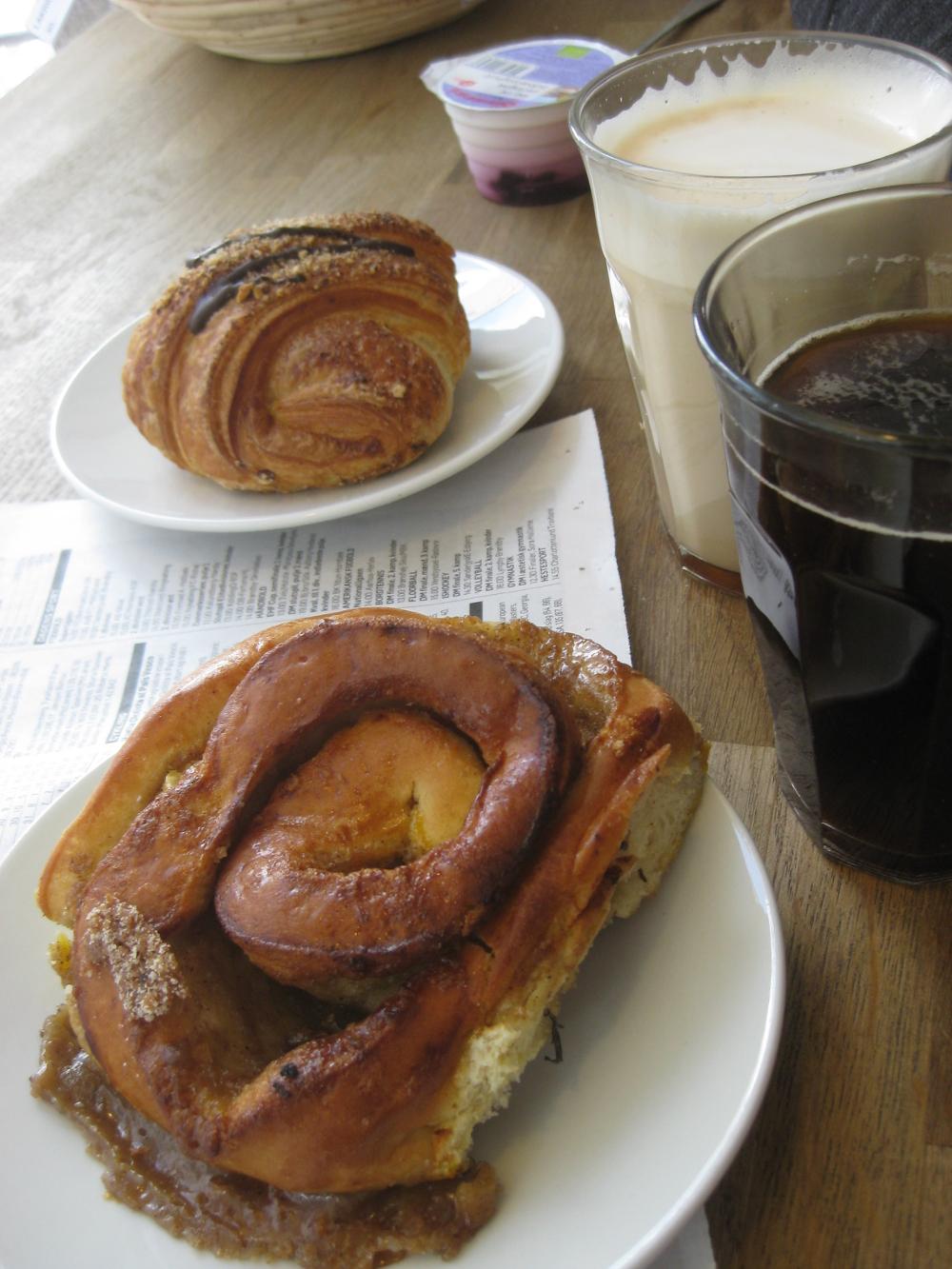 Emmerys bakery for breakfast in Copenhagen, Denmark