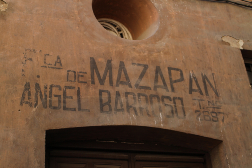Hand-painted signs in Toledo, Spain