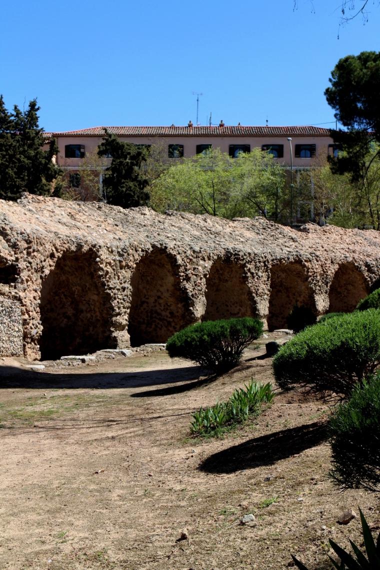 Roman amphitheatre in Toledo Spain