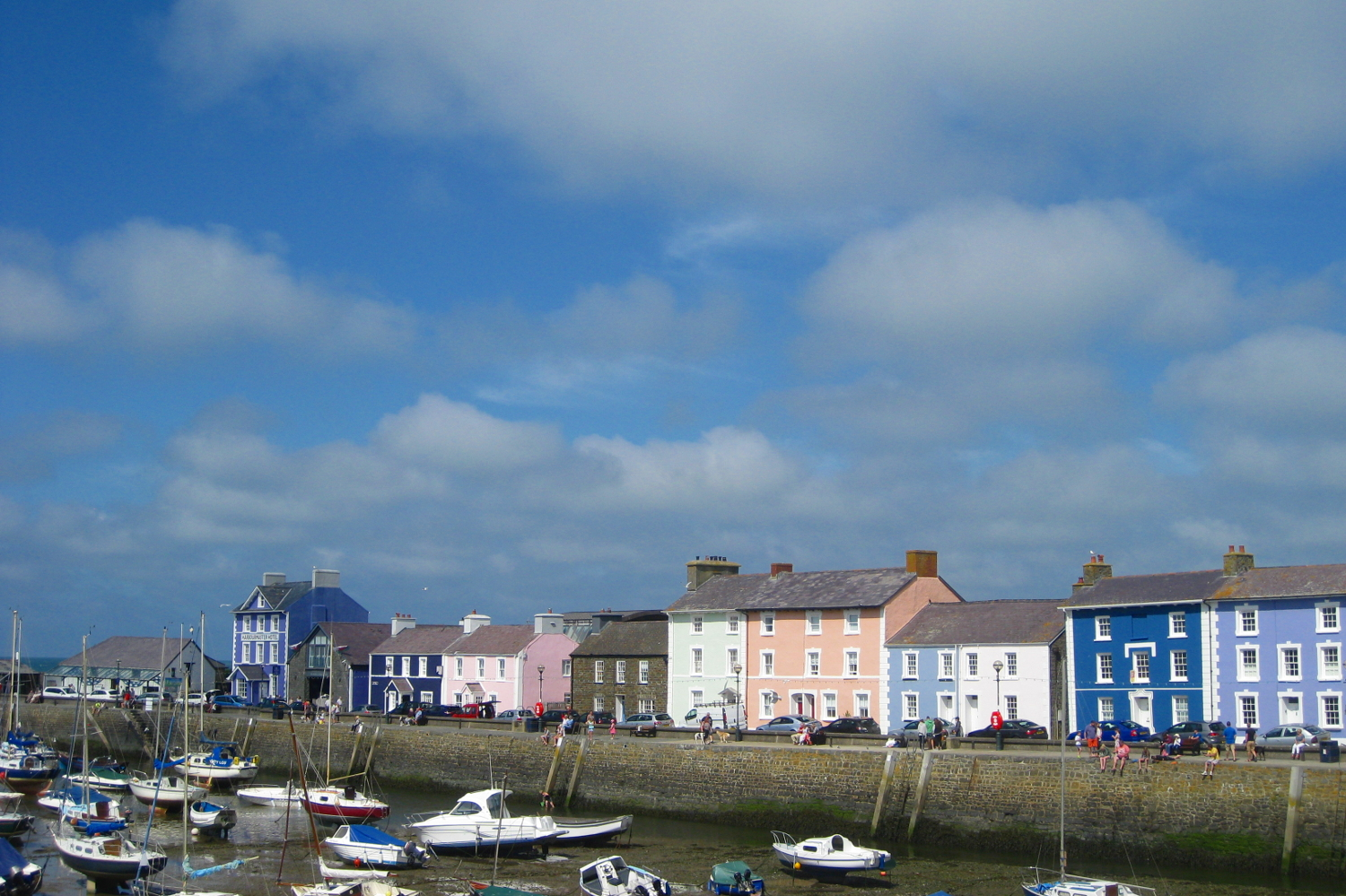 Aberaeron, a fishing village on the Welsh coast