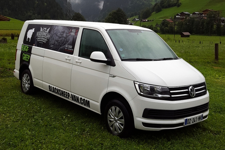 Blacksheep campervan at Camping Eigernordwand in Grindelwald, Switzerland