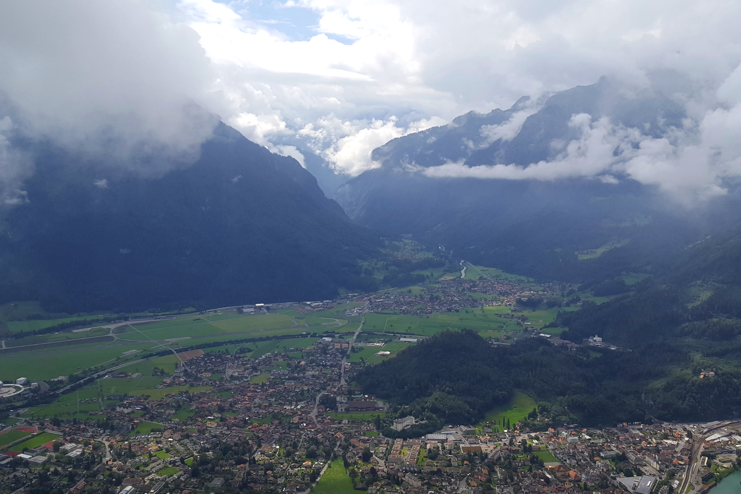 View from Harder Kulm above the Swiss town of Interlaken