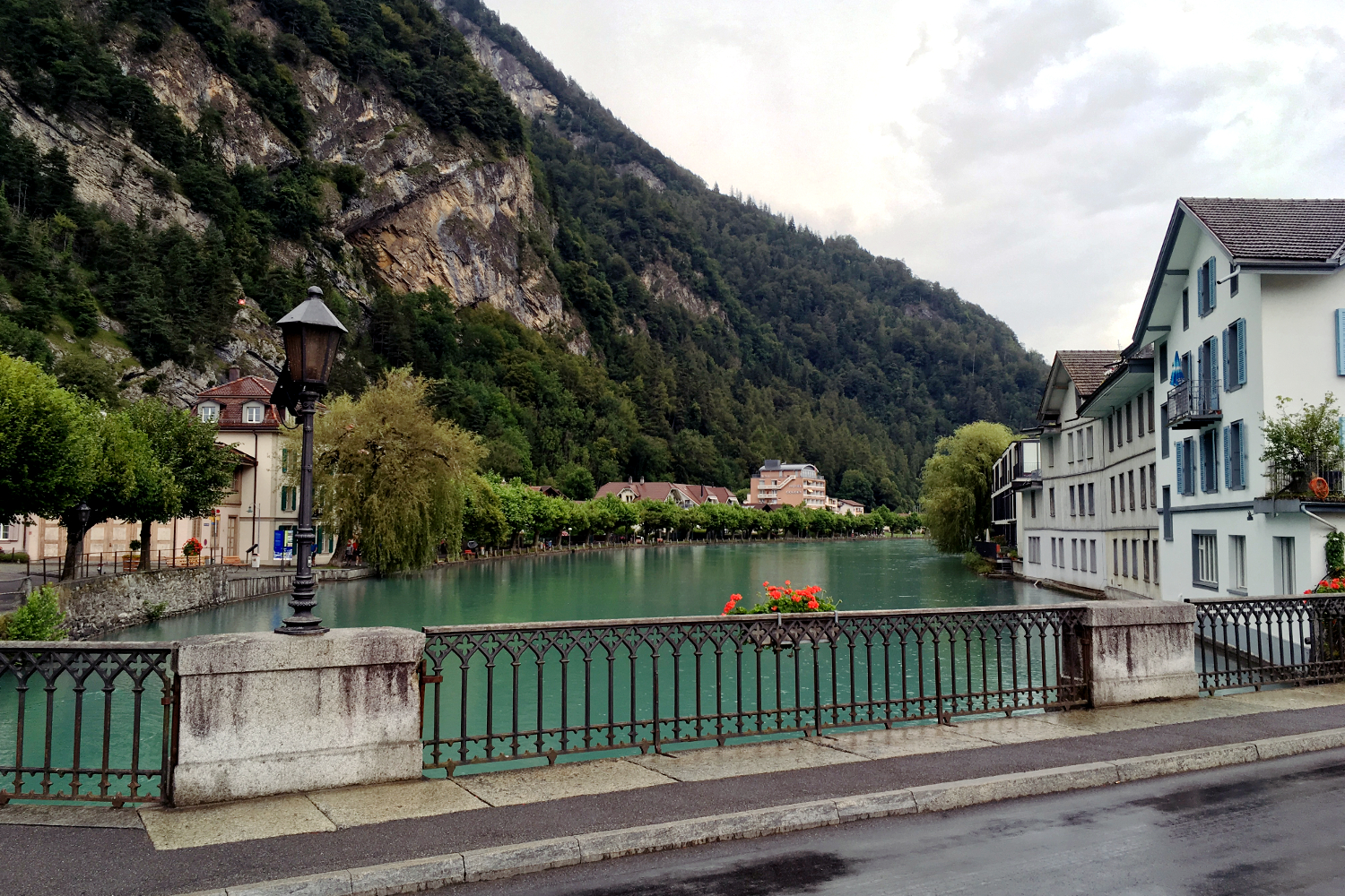 River Aare in Interlaken, Switzerland