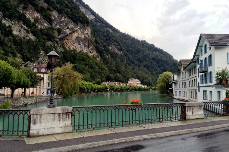 River Aare in Interlaken, Switzerland