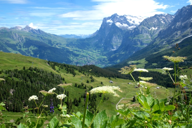 Breathtaking views from Kleine Scheidegg above Murren in the Bernese Oberland