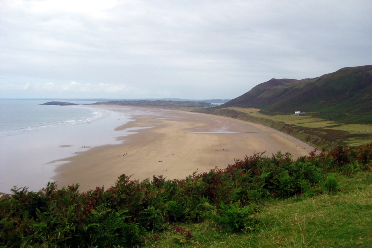 Rhossili beach on the Gower, Wales