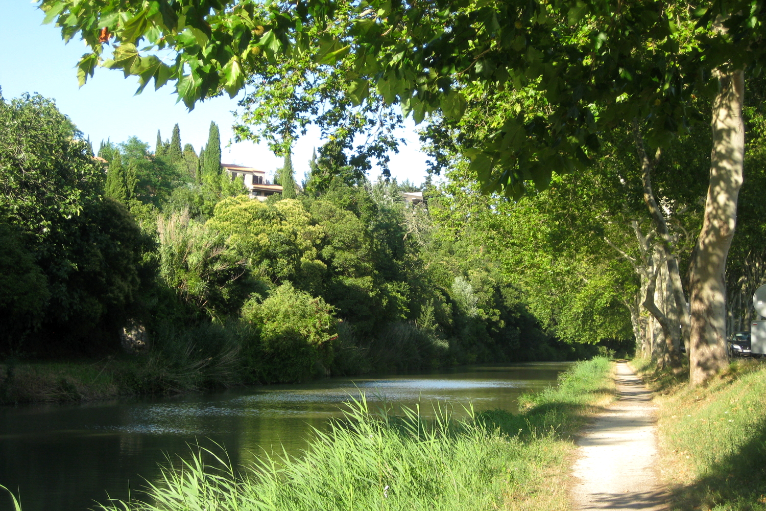 Canal du Midi in Carcassonne, France