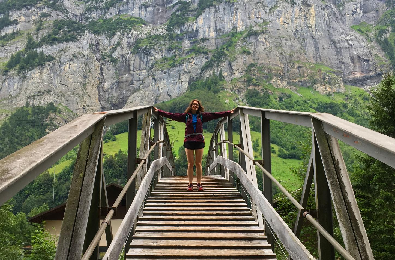 Hiking in the Lauterbrunnen valley, Switzerland
