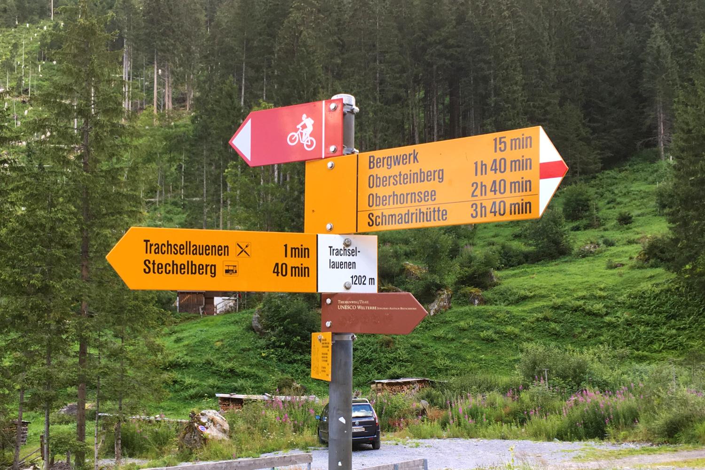 Hiking trails in the Bernese Oberland, Switzerland