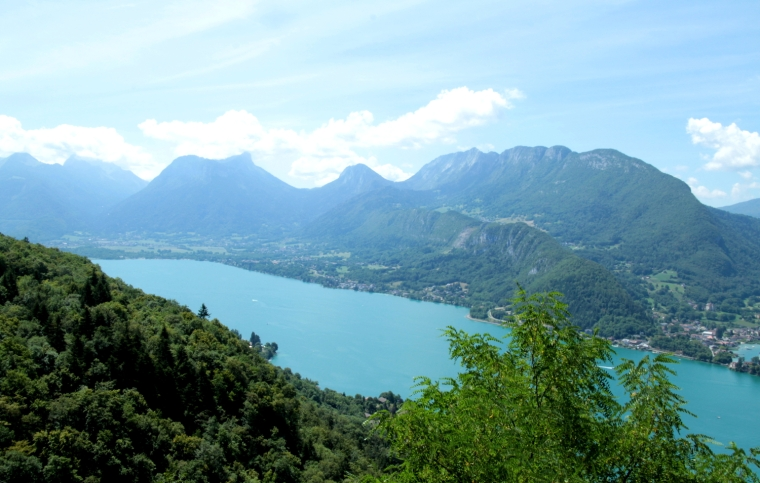 Lake Annecy: France's best-kept secret | View of lake Annecy from the old church at St. Germain | Travel guide | Girl with a saddle bag blog