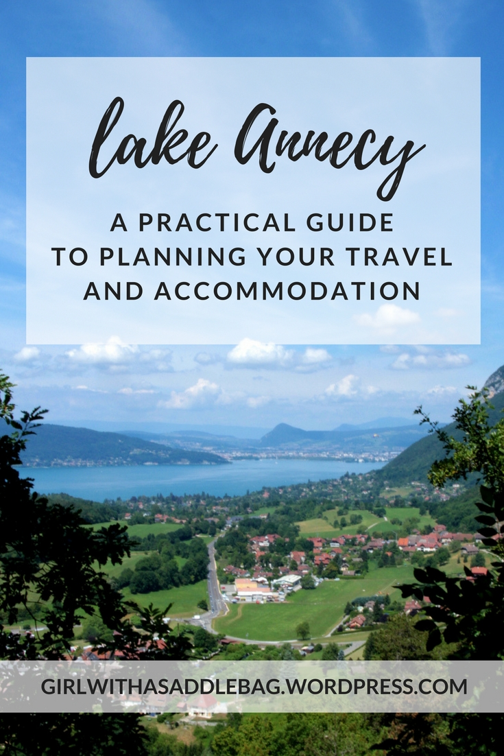Lake Annecy, France: A practical guide to planning your travel and accommodation | Travel guide | City guide | Accommodation guide | Girl with a saddle bag blog